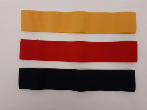 kit combo 3 tiraband circular banda elástica tela pack syd