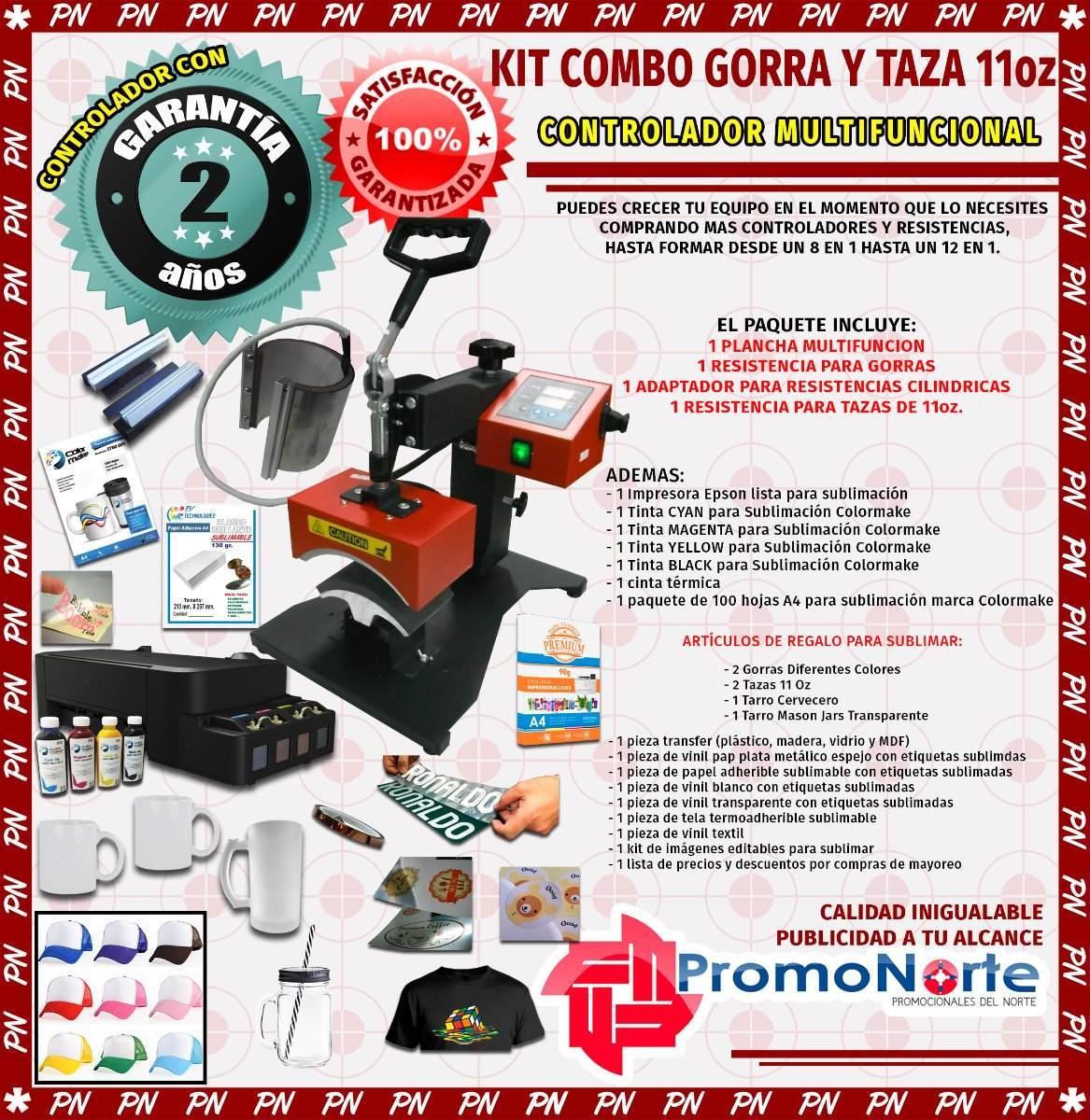 Kit Combo De 8 En 1 A Plancha Gorra Y Taza Sublimación 2019 ... 30deed3c8de
