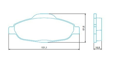 kit combo disco + pastilha freio dianteiro peugeot 408 308