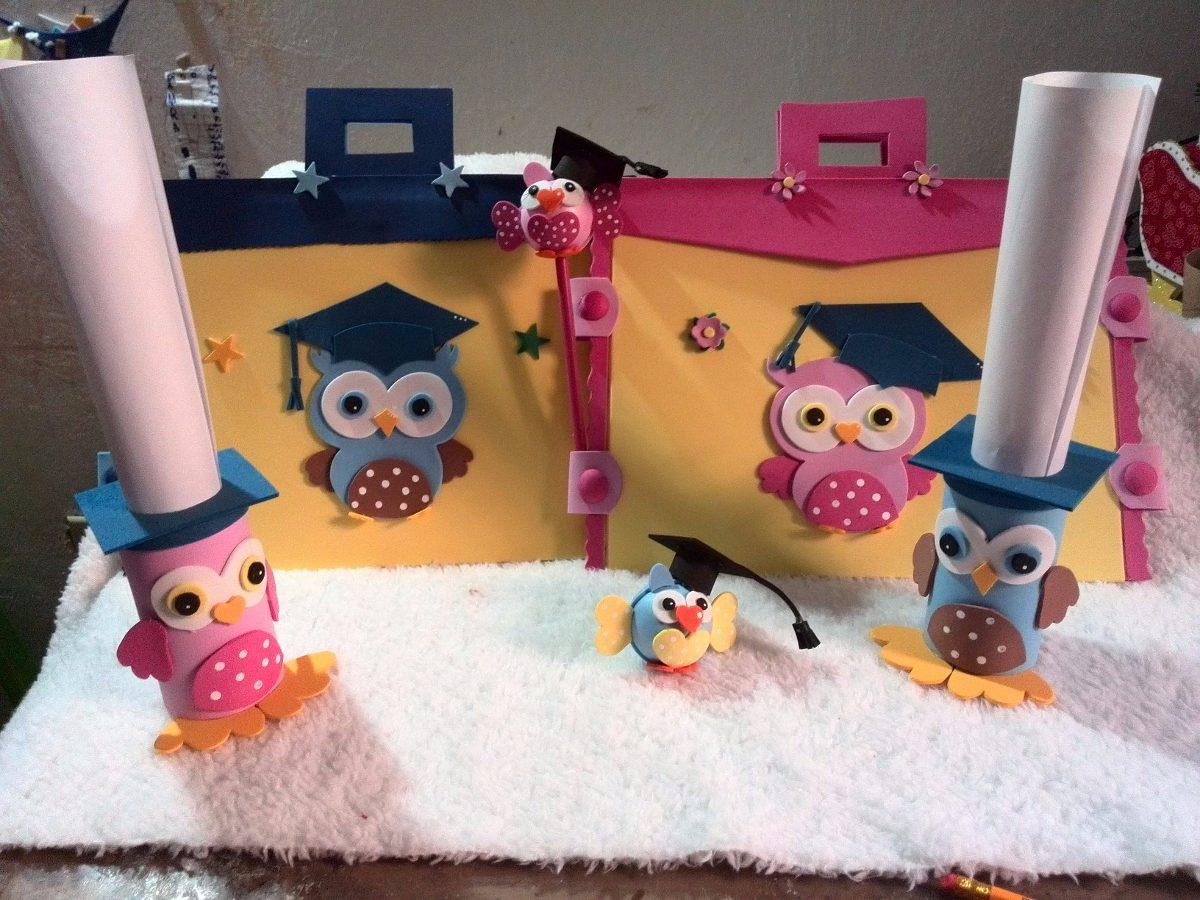 Kit combo graduaci n promoci n preescolar en foami bs for Mesas para preescolar