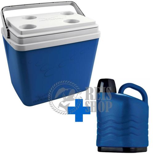 kit combo invicta - caixa térmica 34 l + galão térmico 5 l