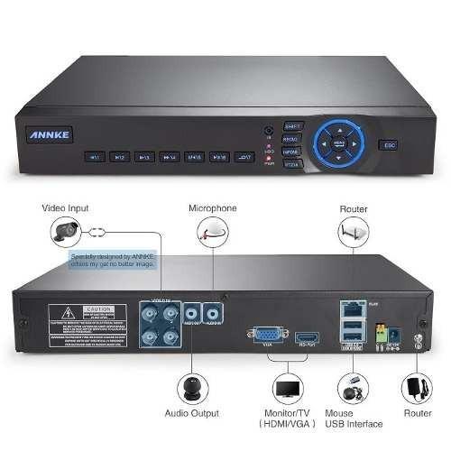 kit combo seguridad cctv dvr 4ch canales + 4 camaras hd 720p