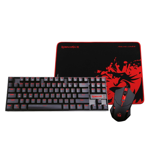 kit combo teclado mouse pad redragon k552 ba fullh4rd envio