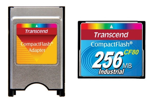 kit compactflash transcend 256mb 80x  + adaptador p pcmcia