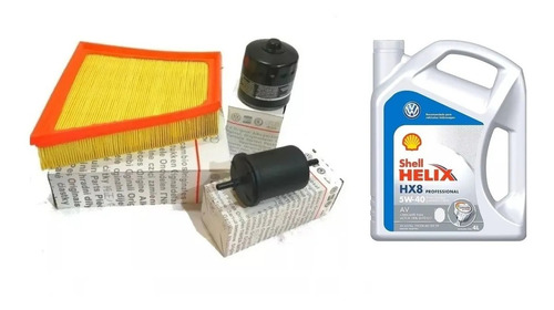 kit completo 3 filtros golf + 4 lt aceite 5w40 original vw
