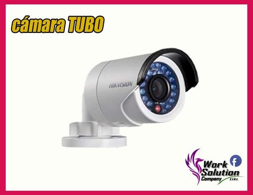 kit completo 4 camaras de seguridad hd hikvision disco 1tb
