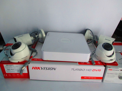 kit completo 4 camaras hikvision hd cctv dvr ezviz cloud