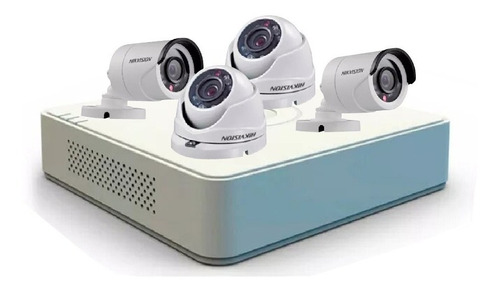 kit completo 4 cámaras hikvision hd seguridad vigilancia