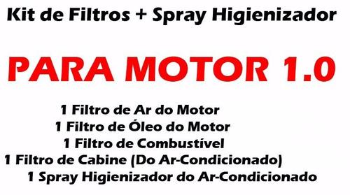 kit completo 4 filtros + spray gol voyage g5 g6 motor 1.0