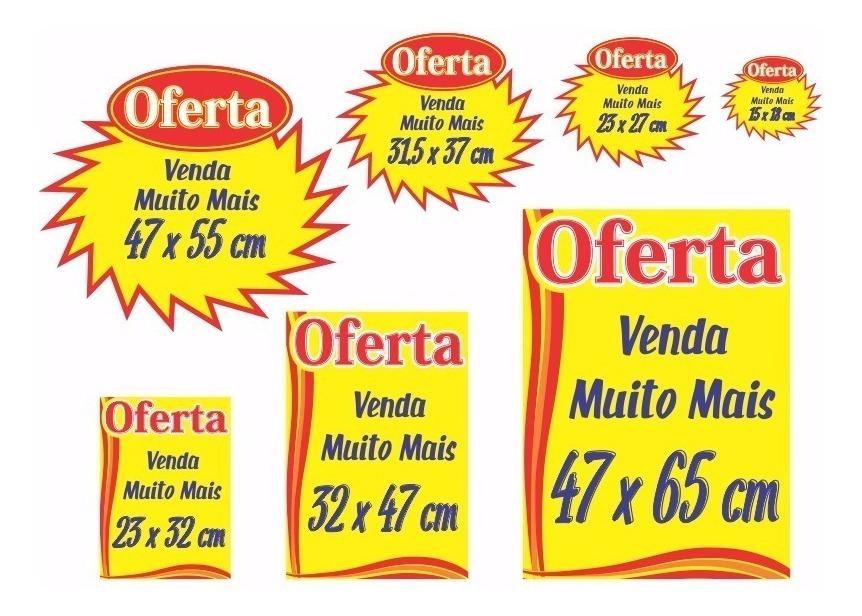 e2e384a952b8f Kit Completo 70 Cartaz Oferta Splash Promoção Supermercado - R$ 55 ...
