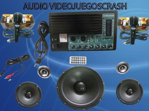 kit completo audio amplificador  ideal para rockola