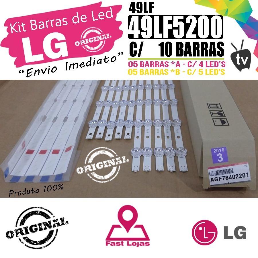 bc74eea8b kit completo barras de led tv lg 49lf5200 original - novo. Carregando zoom.