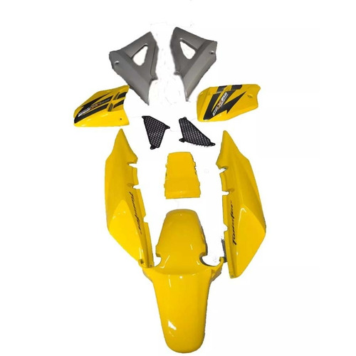 kit completo carenagem cbx 250 twister amarelo 2008 adesivad