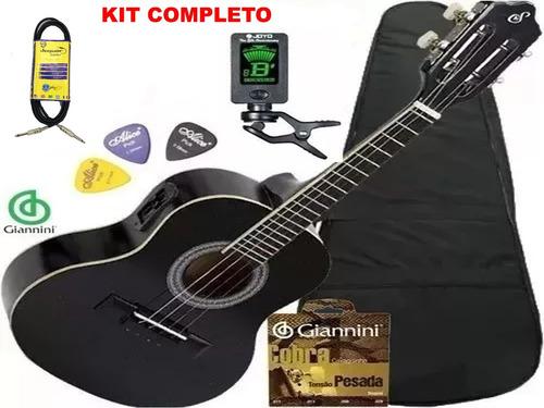 kit completo cavaco giannini eletrico cs14 bk/nt promocao