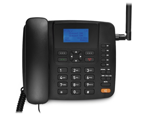 kit completo celular de mesa rural multilaser re502 + 15dbi