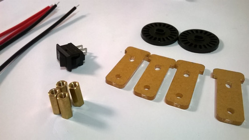 kit completo: chassi 2wd / 2 rodas