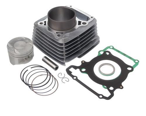 kit completo cilindro pistão junta kmp anel rik cbx250 01/08