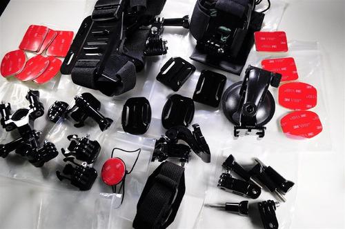 kit completo de 33 piezas para camaras gopro 1 2 3 4 y 5