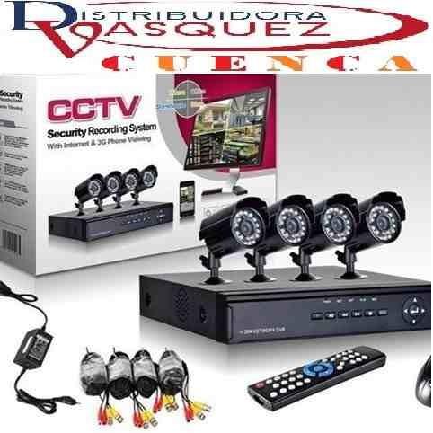 kit completo de 4 camaras de seguridad vigilancia celular