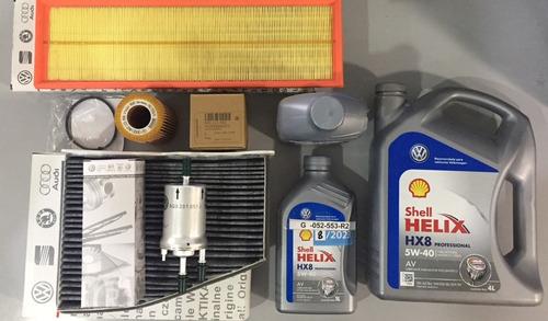 kit completo de 4 filtros + aceite para volkswagen vento 2.5