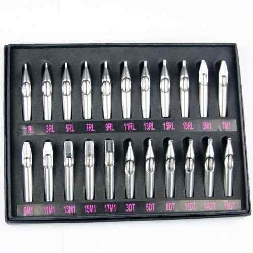kit completo de boquillas de acero inoxidable para tatuar