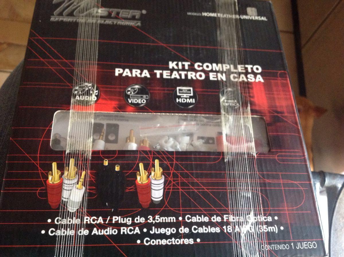 Kit completo de cables y fibra ptica para teatro en casa en mercado libre - Fibra optica en casa ...
