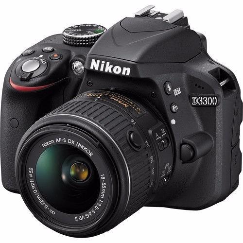 kit completo de camara nikon d3300 18-55 + 22 artículos 32gb