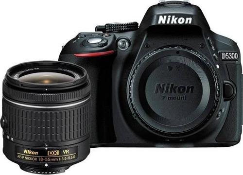 kit completo de camara nikon d5300 18-55 + 24 artículos 32gb
