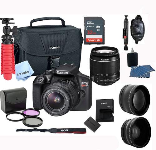 kit completo de cámara profesional canon t6 + 18 artículos