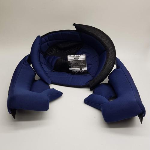 kit completo de forração do capacete axxis eagle original