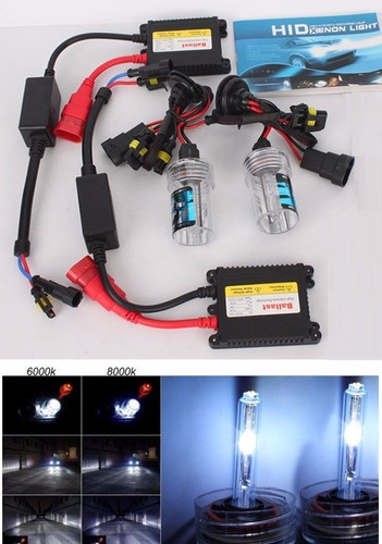 kit completo de luces xenón h3 h4 6000k + balastros
