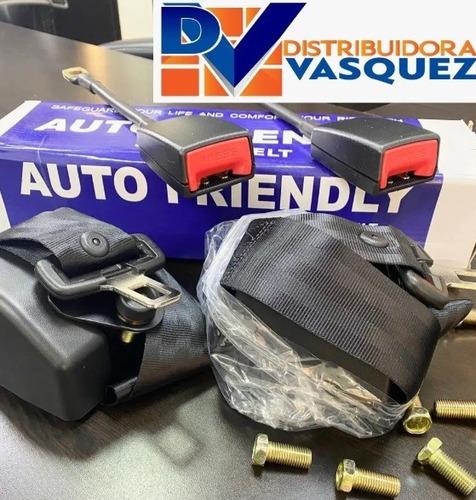 kit completo doble de cinturones de seguridad 2x1