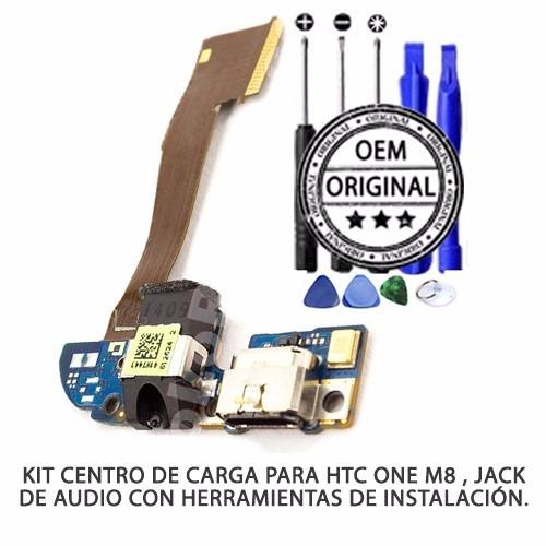kit completo flex centro carga htc one m8 jack audio micro
