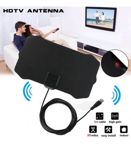 kit completo hd tv digital antena interior exterior plana t4