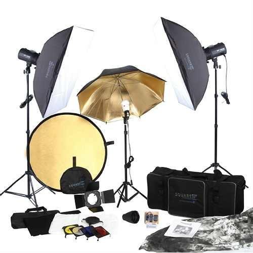 kit completo iluminación caja de luz estudio fotográfico hm4