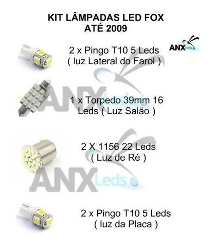 kit completo lampadas led fox até 2009 frete 12,00 anx leds