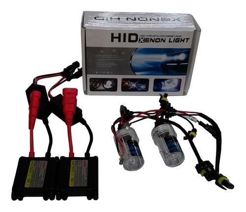 kit completo lampara xenon  9006 auto alta potencia- 10000k