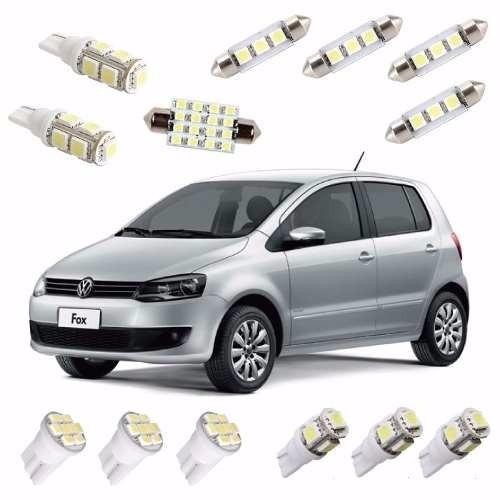 kit completo lâmpadas led volkswagen fox leds 2010/2014