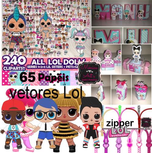 kit completo lol +meninos+ zipper+ vetores