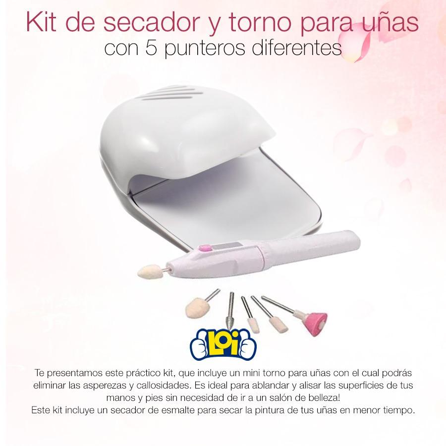 Kit Completo Manicura Torno Y Secador Para Uñas Oferta Loi - $ 247 ...