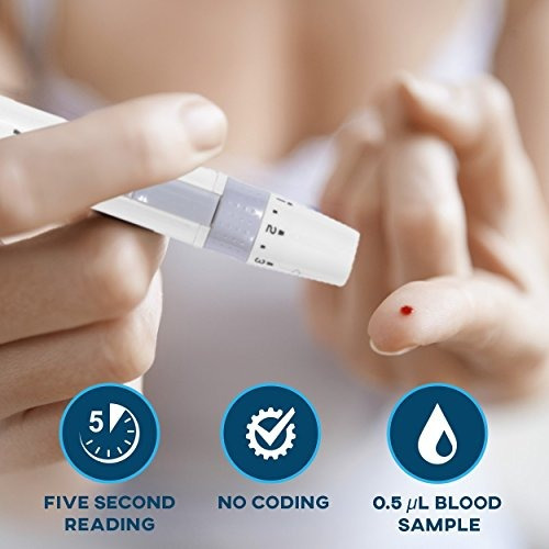 kit completo medidor de glucosa en sangre, con estuche
