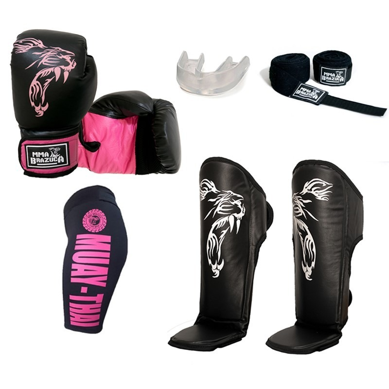 79448ed7f kit completo muaythai luva can bermuda band bucal leg. Carregando zoom.