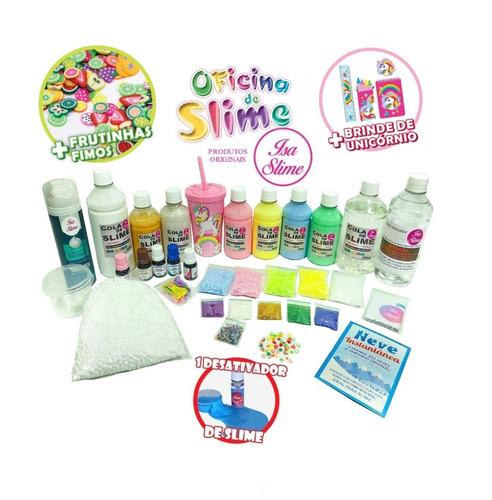 kit completo oficina de slime isa slime original