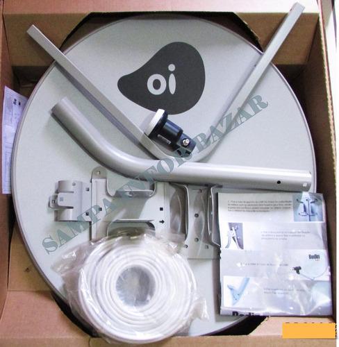 kit completo oi tv livre  elsys  antena ku 60cm melhor$