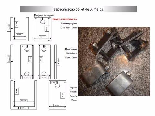 kit completo para carreta reboque 750 kg