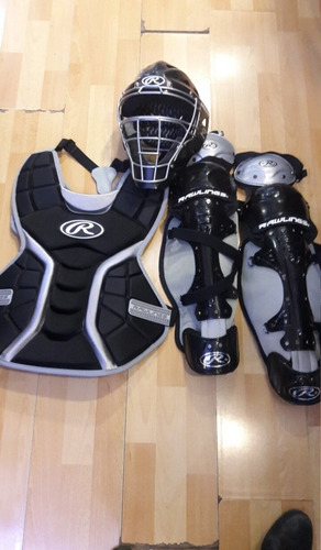kit completo para catcher para niños.  wilson