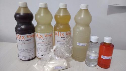 kit completo para fazer 200l sabão liquido coco ou dinamo