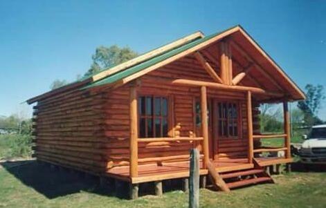 kit completo para montaje de cabaña de troncos ( x metro 2)