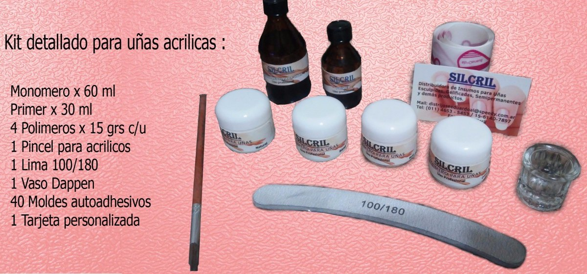 Kit Completo Para Uñas Acrilicas Esculpidas Con Egratis