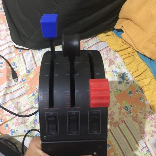 kit completo : pedal manche mistura,  avião